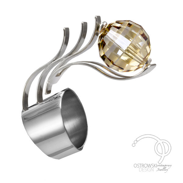 bague-glow-argent-swarovski-ostrowski-design-cuivre